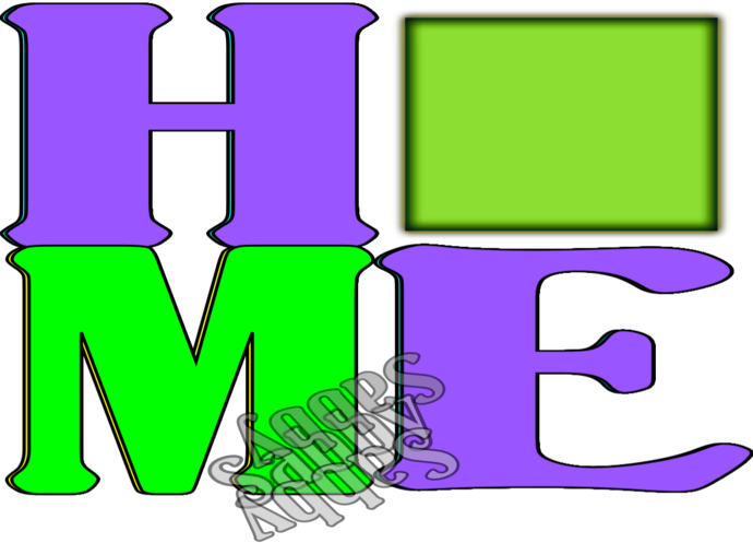 Home Color Word3-Digital ClipArt-Square-Art Clip-Gift
