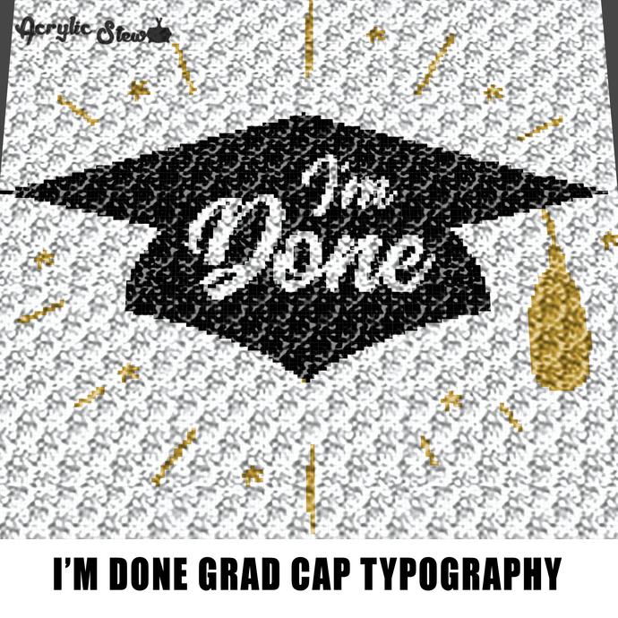Copy of Congrats Graduate Senior Pastel Quote Typography crochet graphgan