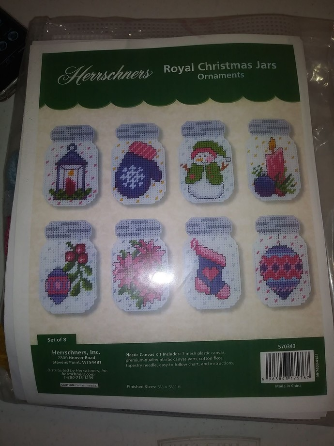 Herrschners\570343 Royal Christmas Jars Ornaments - with Remake