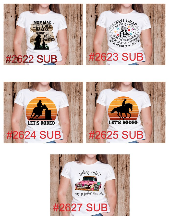 """Sublimation """"Let's Rodeo"""""""
