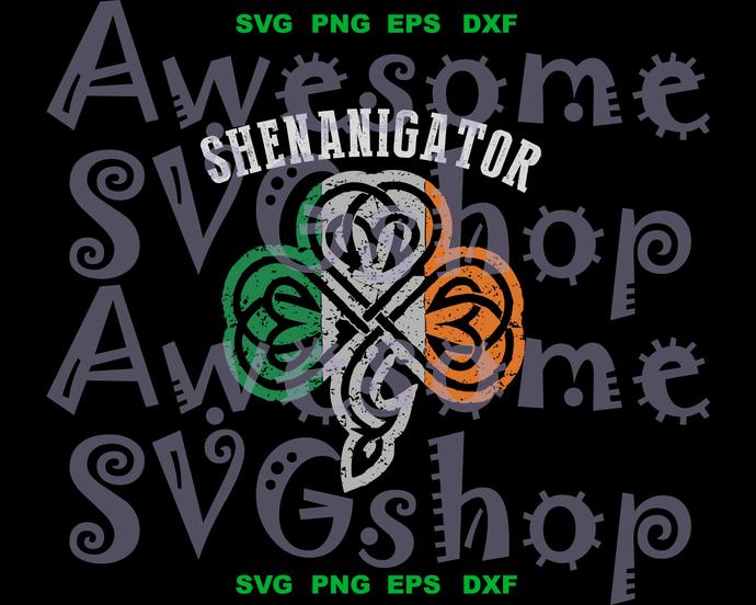 Shenanigator svg Shenanaigans St Patricks Day Shamrock SVG clipart decor four
