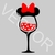 Minnie Mouse Glass Mickey Graphics SVG Dxf EPS Png Cdr Ai Pdf Vector Art Clipart