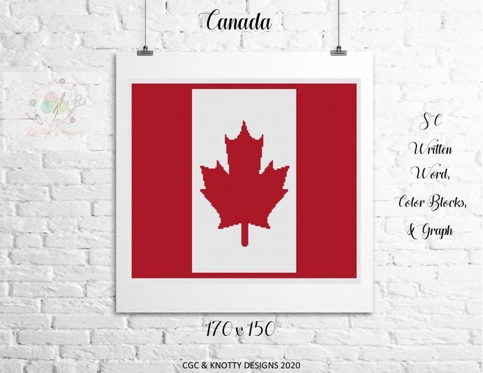 Canada Crochet Written Word and Graph Design