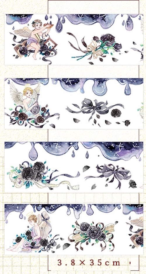 1 Roll of Limited Edition Washi Tape: Falling Angels