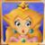 Princess Peach Painting Mario 64 24x24 Canvas Print