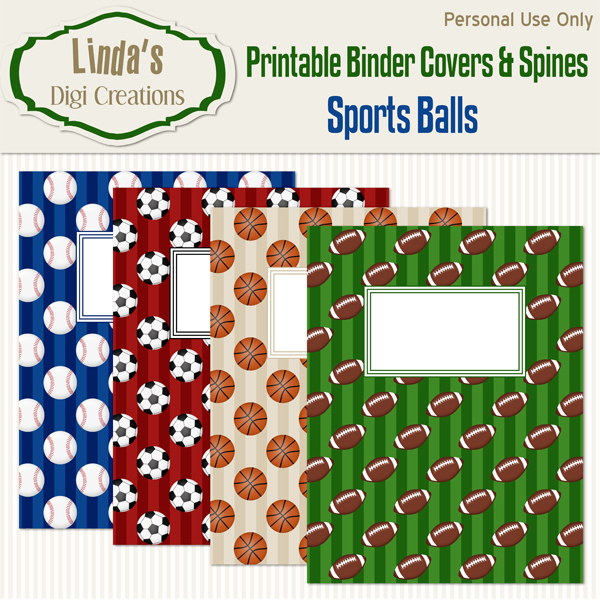 Printable Binder Covers & Spines_Sports Balls