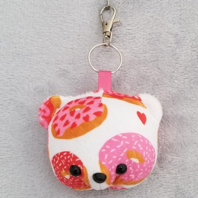 CHUBBY BEAR HEAD KEY-CHAIN: Love Donuts (Keychain 1)