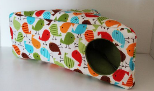 Fun and Cheery Multicoloured Birds Guinea PIg and Small Animal Corner Hide