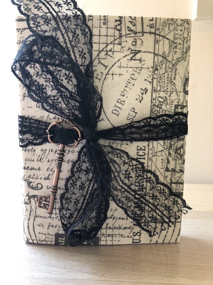 Hardcover Vintage Style Junk Journal With Mixed Pages
