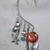 Southwestern theme ear wrap with eagle charm, metal feather charms, and natural,