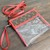 Customized altered clear LV bag - LV red clear bag - Louis Vuitton clear bag -