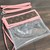 Customized altered clear LV bag - LV pink clear bag - Louis Vuitton clear bag -