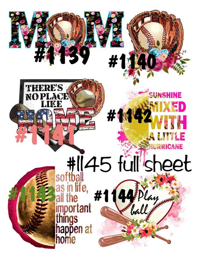 Waterslides Play Ball #1139 - #1145 Lasr Printed