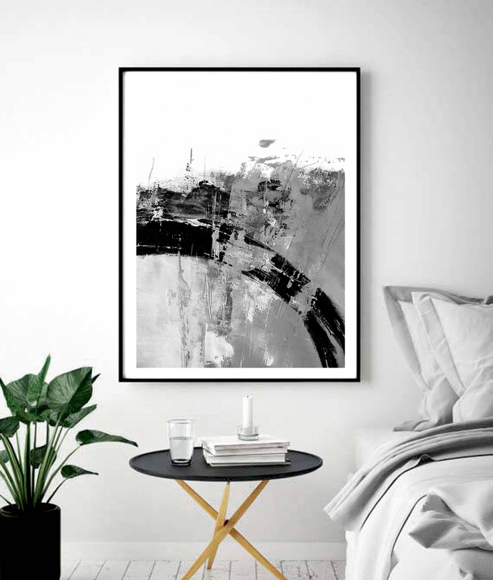 Abstract Art Print, Black and White Art, Printable art, Modern Wall Art,