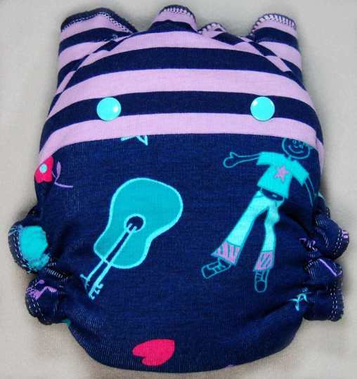 Cool Girl Combo - Cloth Diaper or Cover - You Pick Size and Style - Made to