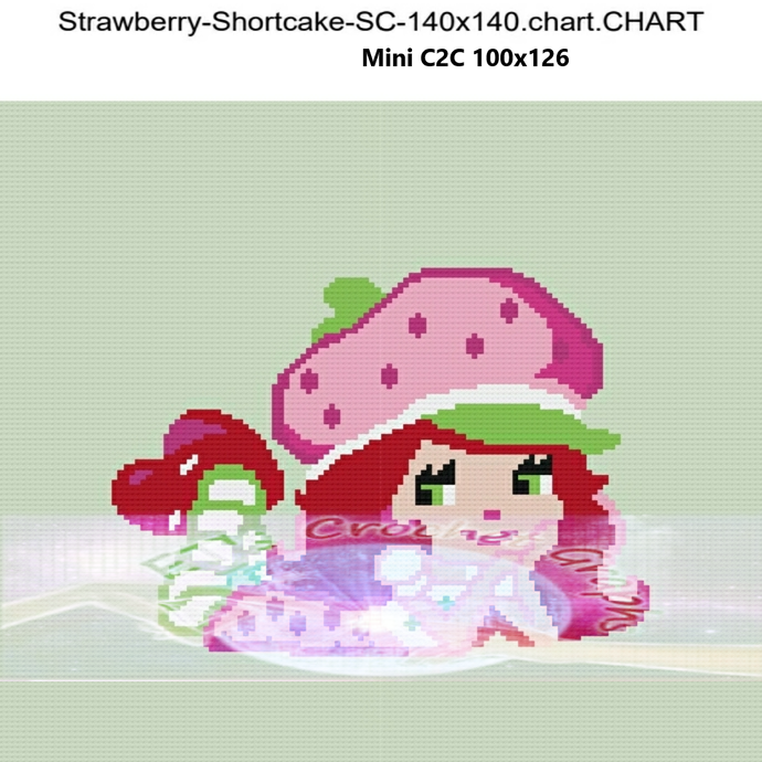Strawberry Shortcake SC & Mini C2C includes graphs with color charts