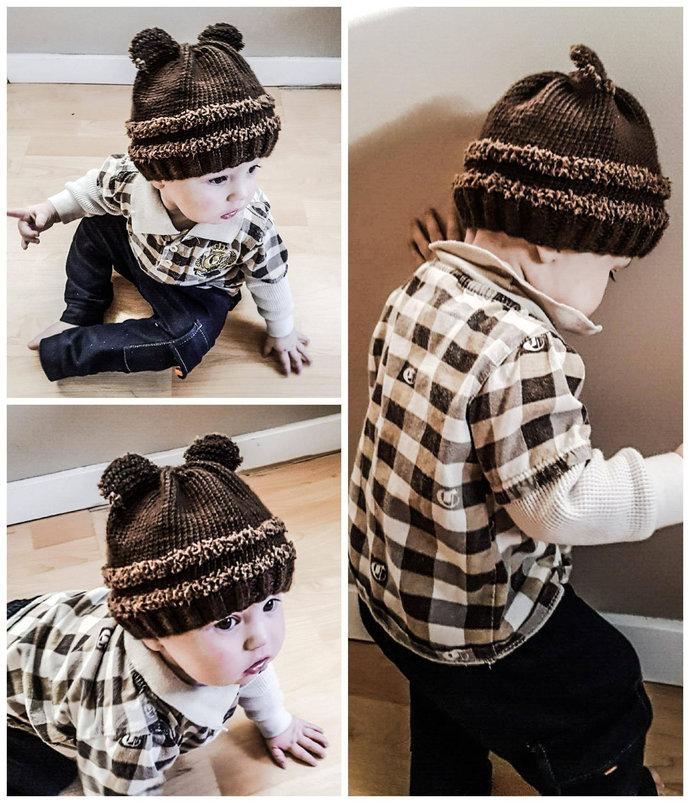 Fuzzy Wuzzy Baby Toque Knitting Pattern (Digital Copy)