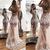 sexy sheer formal dresses long mermaid champagne evening dresses 2020 beaded 3d