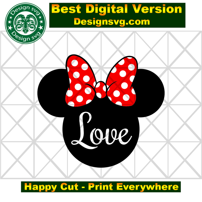 Love minnie,minnie svg, minnie head,minnie gift,minnie shirt,minnie lover gift,