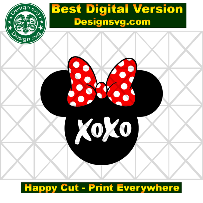 Minnie xoxo,minnie svg,xoxo svg, minnie xoxo shirt, minnie head,minnie