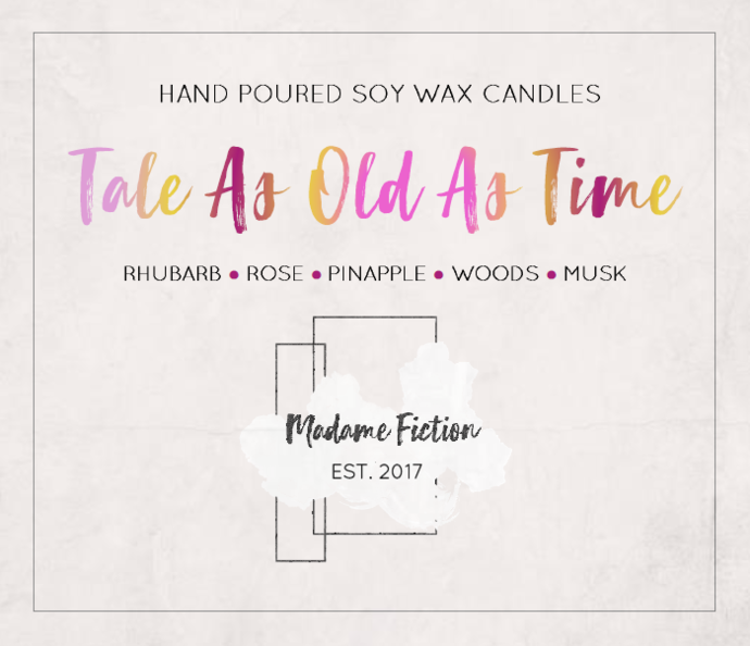 Tale As Old As Time - 8oz Candle - Princess Inspired - Scented Soy Candle - Book