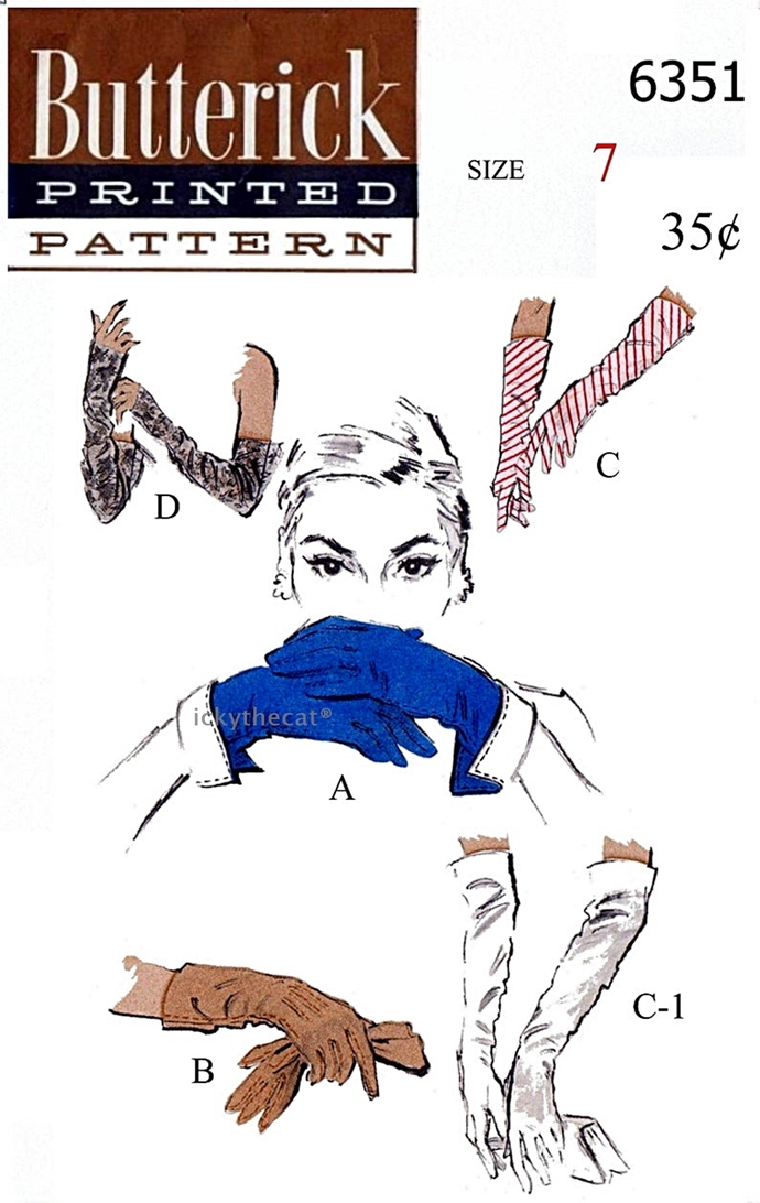 Instant PDF Digital Download Vintage Sewing Pattern Butterick 6351 Ladies