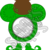 Mouse Clover 1aa-St. Patrick's-Digital ClipArt-Art Clip-Gift