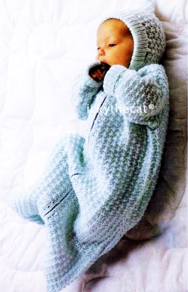 Instant PDF Digital Download Vintage Knitting Pattern Baby Sleeping Bag