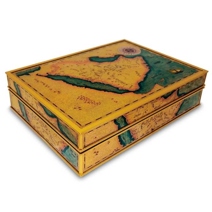 Jewellery Box - Old Map Kingdom of Saudi Arabia - Rectangular box with