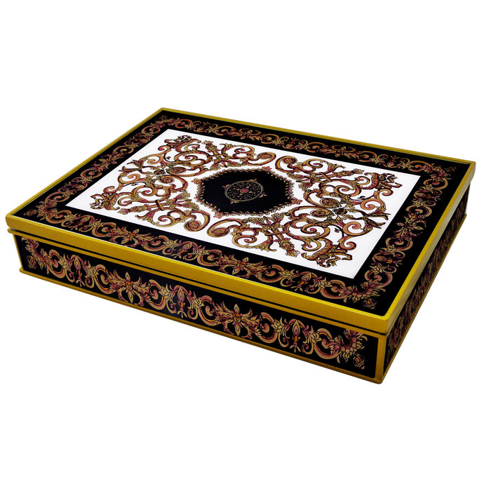 Decorative box - Classic Empire Black and White Design - Rectangular box with