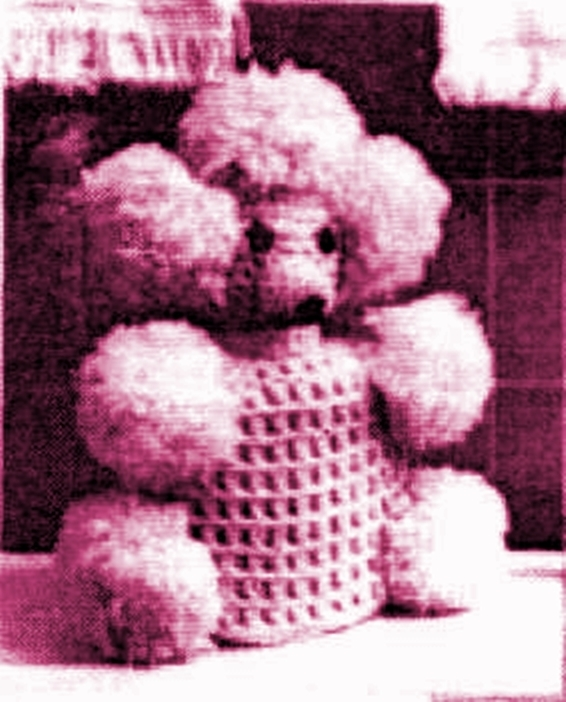 Instant PDF Digital Download Vintage 1950's Crochet Pattern Poodle Dog Toilet