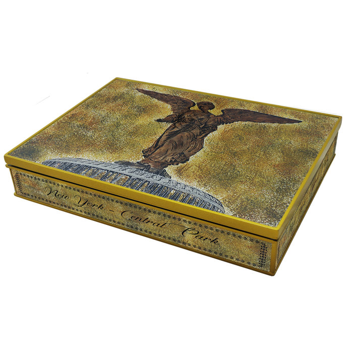 Wooden Tea Chest - New York Central Park Bethesda Fountain - Rectangular box
