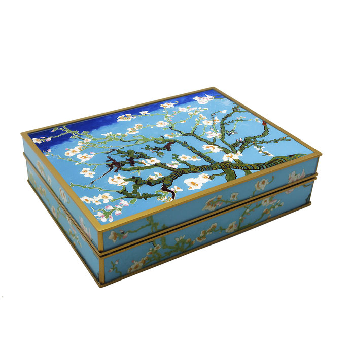 Gift for Valentine's Day, Decorative box for tea and jewelry - Van Gogh Almond