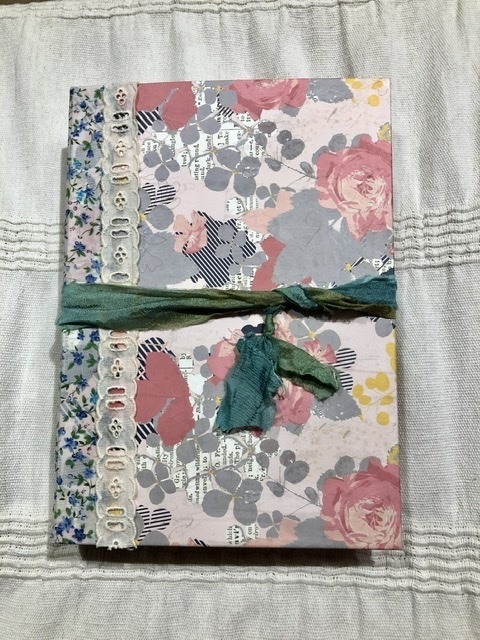 Refillable Floral, Vintage Style Journal With Inserts