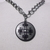Bottony style cross metal pendant on heavy chain necklace