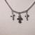 Three cross necklace silver color