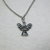 Little angel necklace silver color
