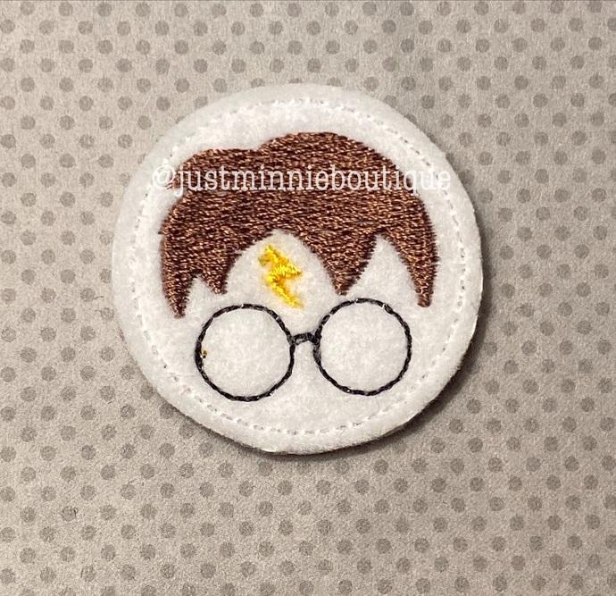 HP Wizard boy inspired 4 pc UNCUT Feltie