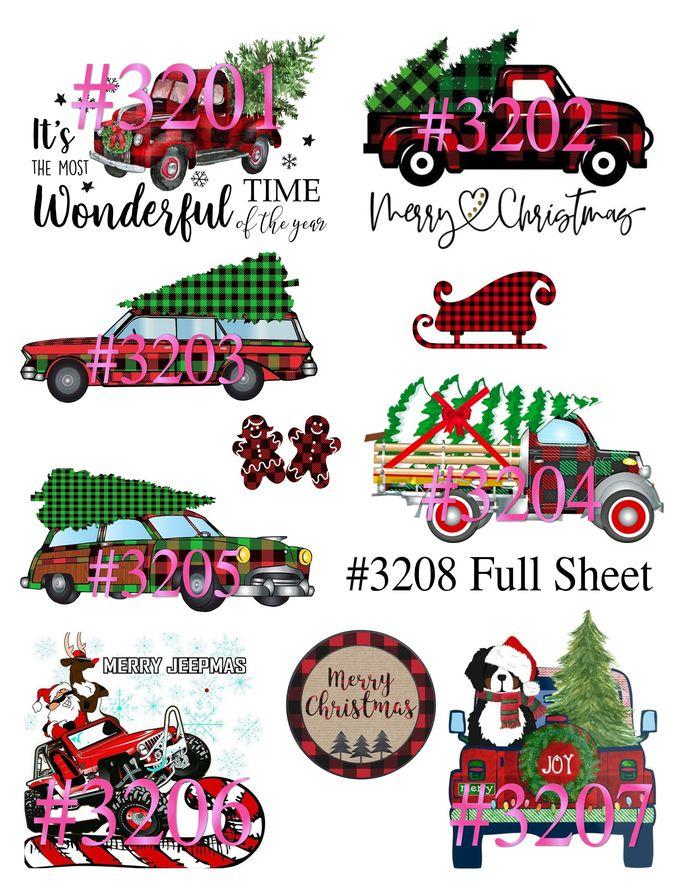 """Waterslides """"Plaid Christmas"""" Laser Printed"""