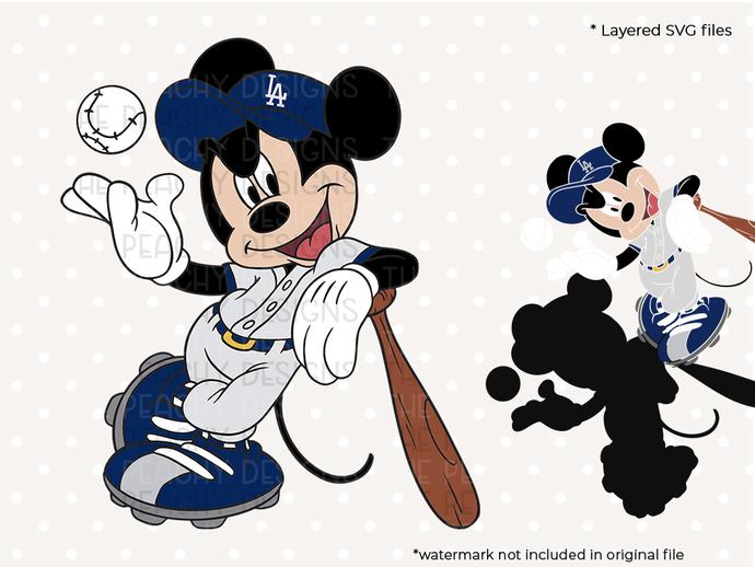 Baseball mickey svg, baseball svg, dxf, eps, png cut file, baseball clip art,