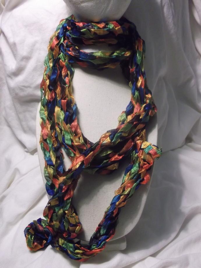 Ribbon scarf multiple colors