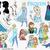 Frozen SVG file, Layered frozen svg, clip art, printable frozen characters, elsa