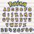 Pokemon alphabet SVG, Pokemon letters cut files,Pikachu font cut files, pokemon