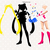 Sailor moon svg files, sailor moon characters, clip art, cut files eps, dxf &