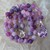 Purple Agate Hand Knot Beaded Necklace with Pendant Crystal Jewelry gifts by
