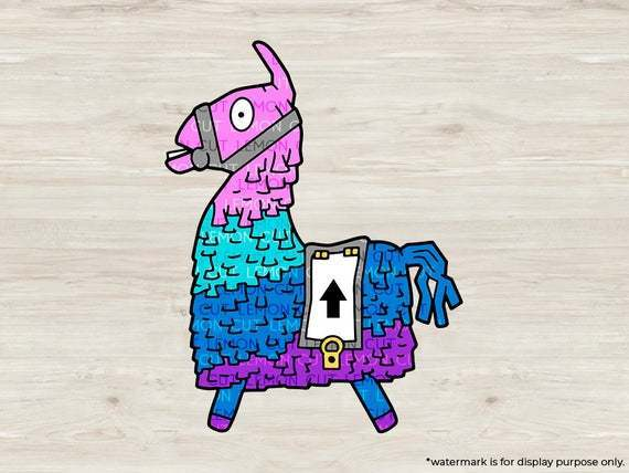 Fortnite llama SVG files, Upgrade Llama cut files, clipart, eps, dxf files for
