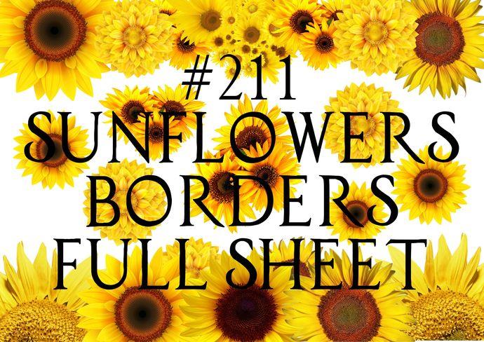 """Waterslides """"Sunflower Borders"""" Laser Printed"""