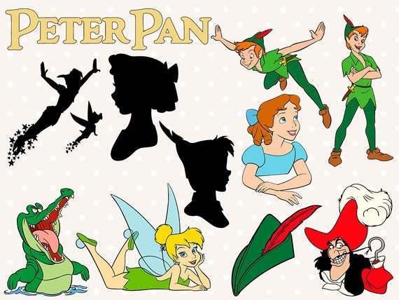 Peter Pan svg files, Peter Pan clip art, captain hook svg, Peter Pan svg cut