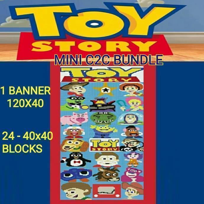 Toy Story SC & Mini C2C 40x40 Blocks - 25 Patterns