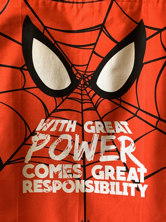 Large Spider-Man tote bag.